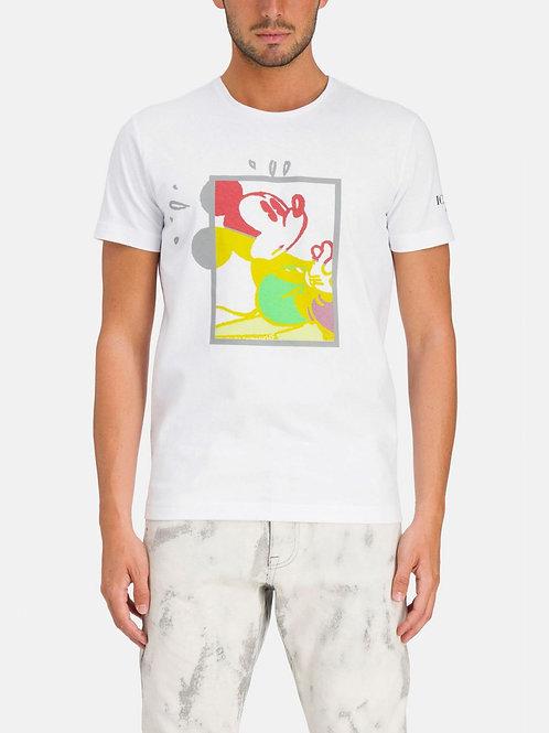 T-shirt z Myszką Miki w kwadracie ICEBERG
