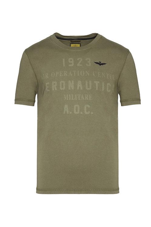 Oliwkowy t-shirt męski TS1814 Aeronautica Militare