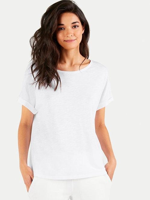 Biały t-shirt JUVIA