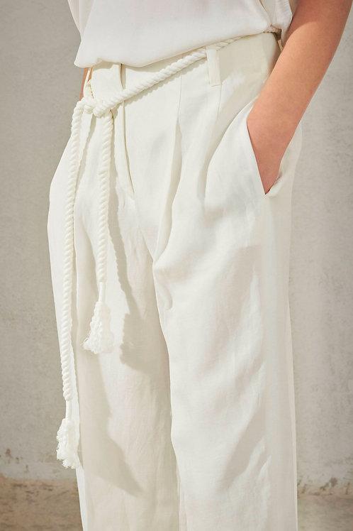 Białe spodnie culottes Luisa Cerano