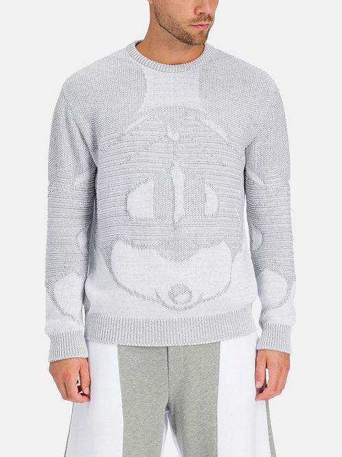 Jasnoszary sweter z motywem Myszki Miki ICEBERG