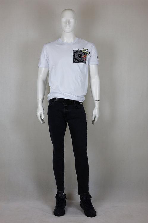 Biały t-shirt męski ICEBERG