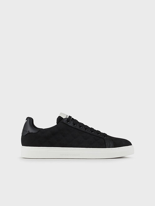 Sneakersy z żakardowym monogramem Emporio Armani