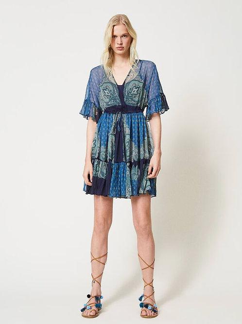 """Sukienka """"Creponne"""" z nadrukiem paisley TWINSET"""