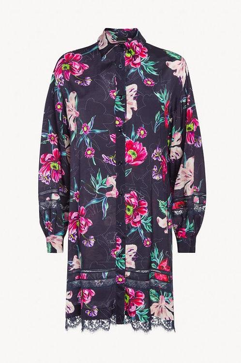 Koszulowa sukienka w kwiaty Ermanno Scervino