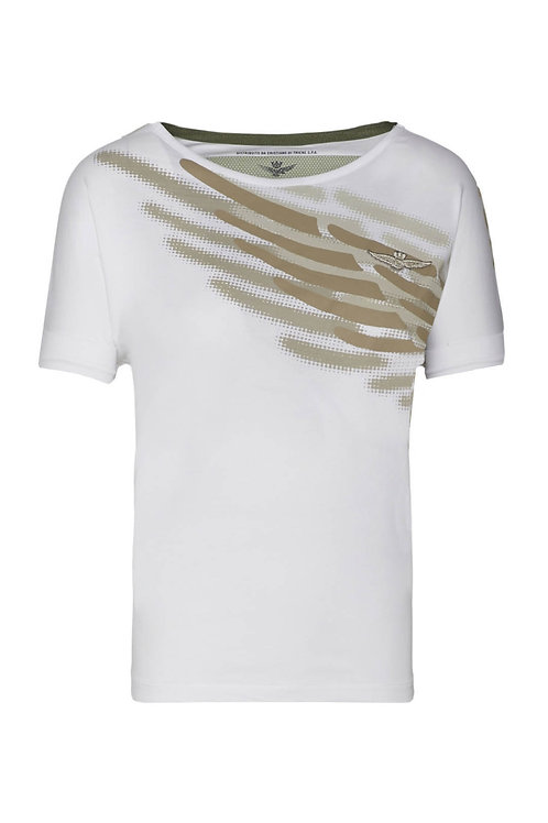 Biały t-shirt TS1879 Aeronautica Militare