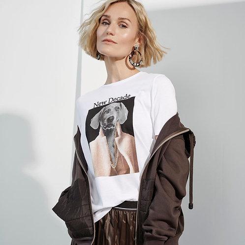 T-shirt biały z nadrukiem MARGITTES
