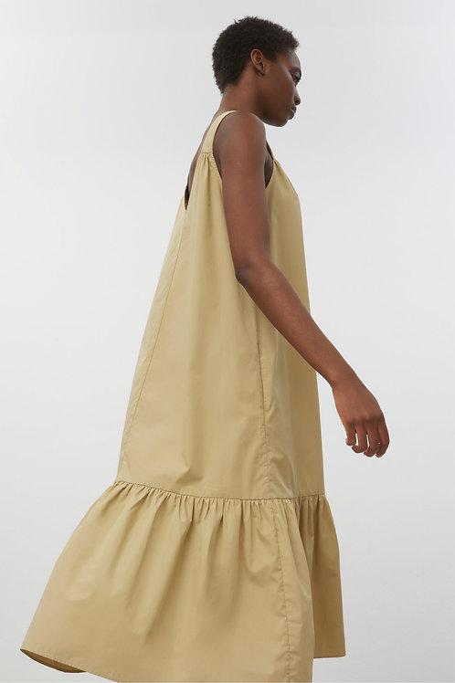 Zielona sukienka midi z bawełny organicznej Closed