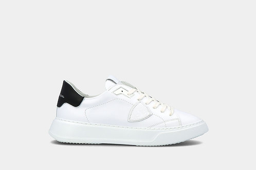"""Męskie sneakersy """"Temple Veau - Blanc Noir"""" Philippe Model"""