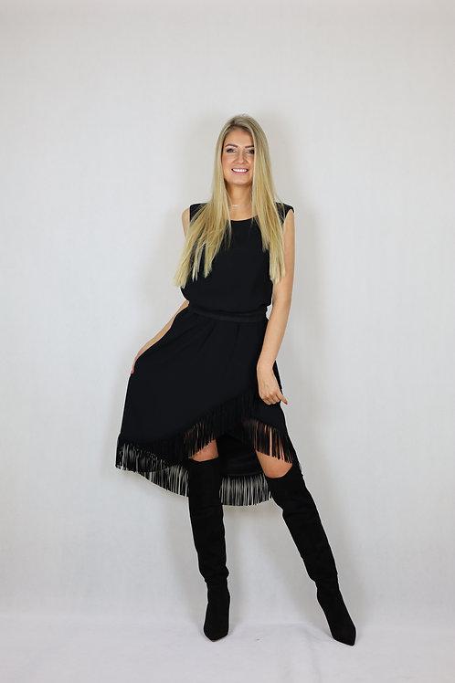 Sukienka z frędzlami Laurèl