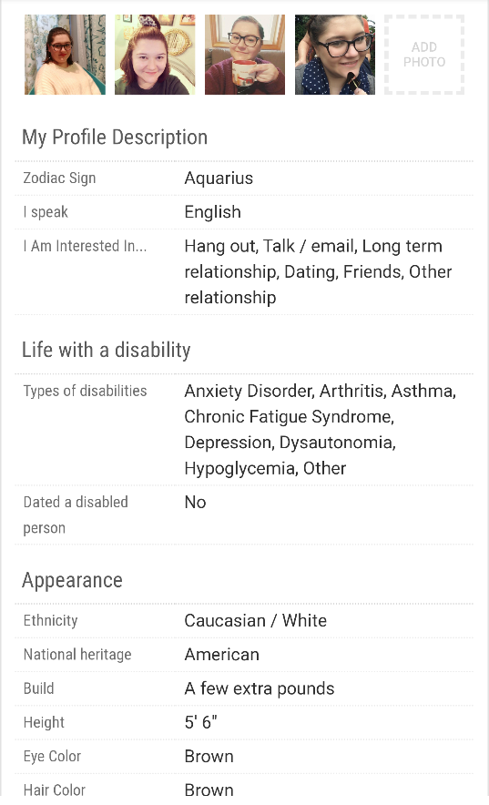 Picture of Dating Profile