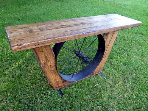 The Homestead Wagon Wheel Console Table
