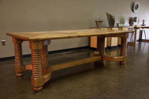 Rare Norwegian Design Virgin Pine & Walnut Inlays