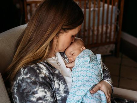 Mom & Baby Boy Buffalo Newborn Session