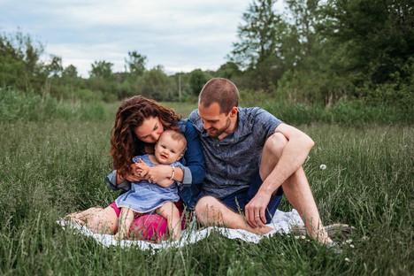 Buffalo Family Photos in a Park
