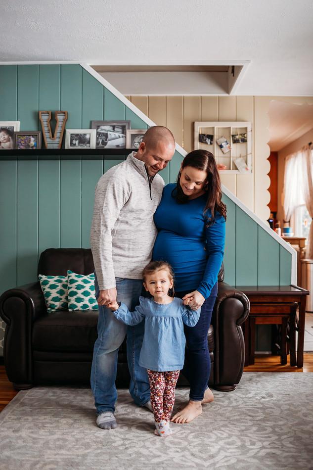 Indoor Maternity Photos | North Buffalo
