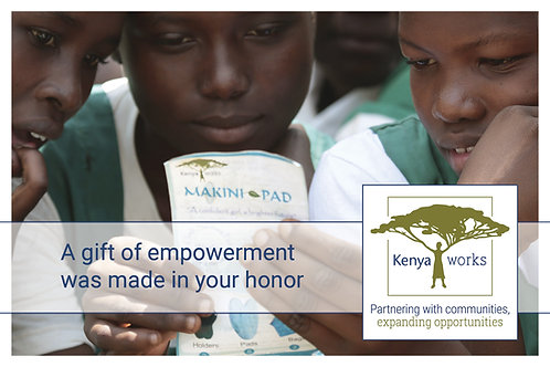 Makini Pad Donation Card
