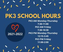 PK3 School Hours