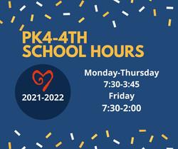 PK4-4th school hours