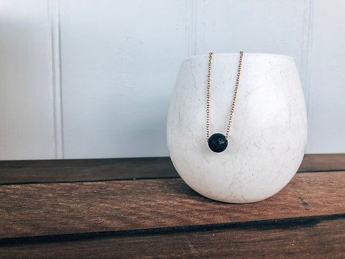 Aroma Lava Stone Necklace