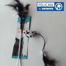 Felican Jouet Canne avec Plume