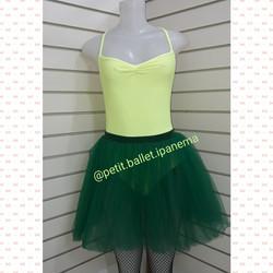 Conjunto ballet verde e amarelo