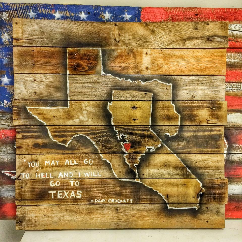 Texas and California