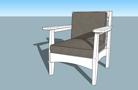 Modern Rustic Outdoor Chair