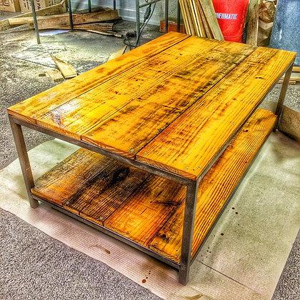 Metal Frame Coffee Table