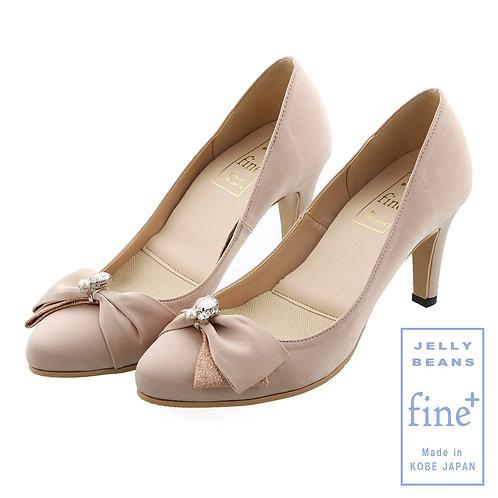 【fine+】ビジューリボンレインパンプス/774-07351