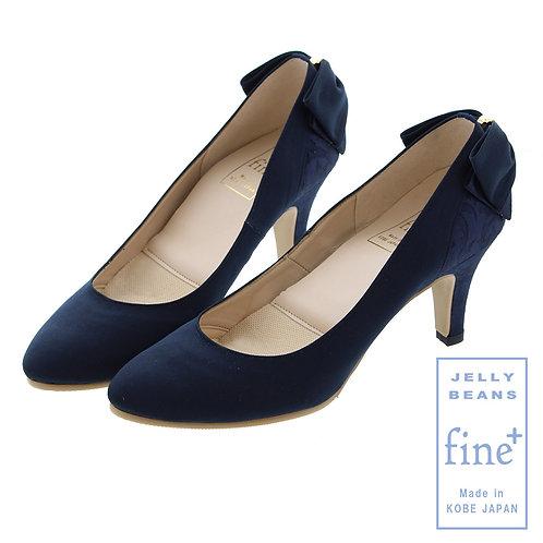 【fine+】バックレースリボンレインパンプス/785-07301