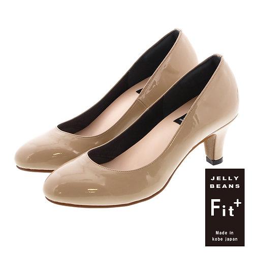 【Fit+】ラウンド6cmヒールパンプス/762-06300