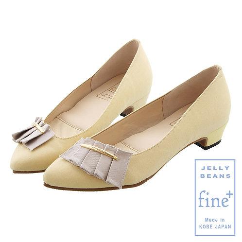 【fine+】プリーツリボンレインパンプス/762-06635