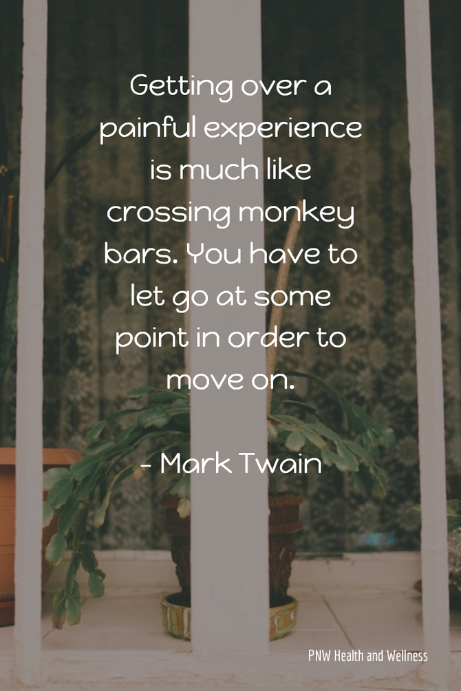 Getting over a painful experience is much like...