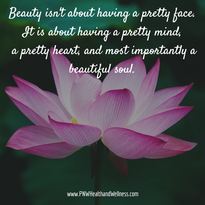 Beauty isn't about...
