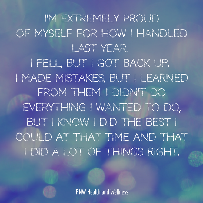I'm extremely proud of myself for...