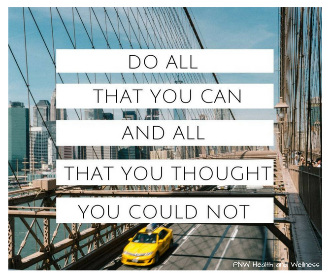 Do All That You Can...