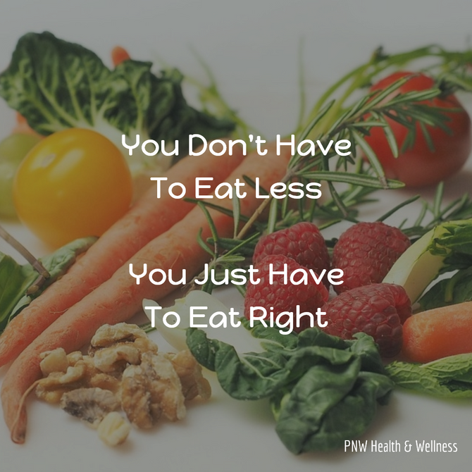 You Don't Have to Eat Less...