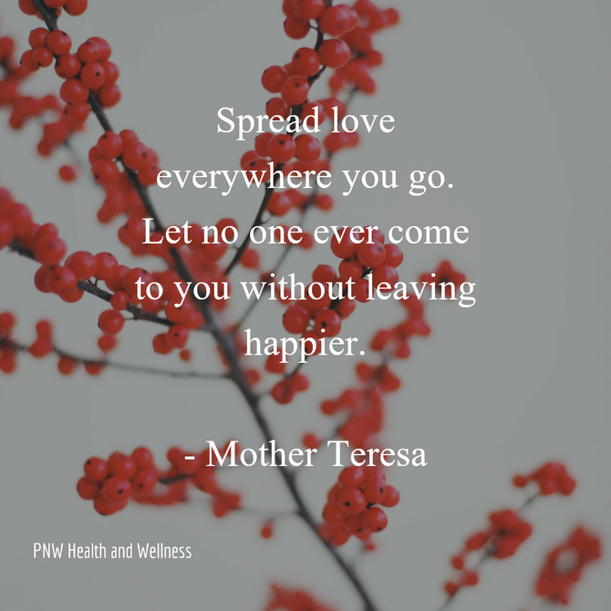 Spread love everywhere you go...
