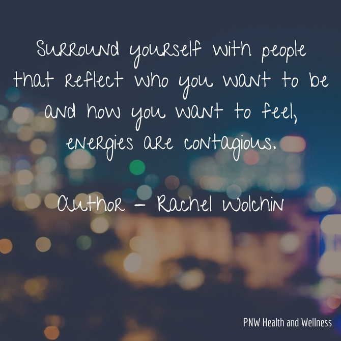 Surround yourself with people that...