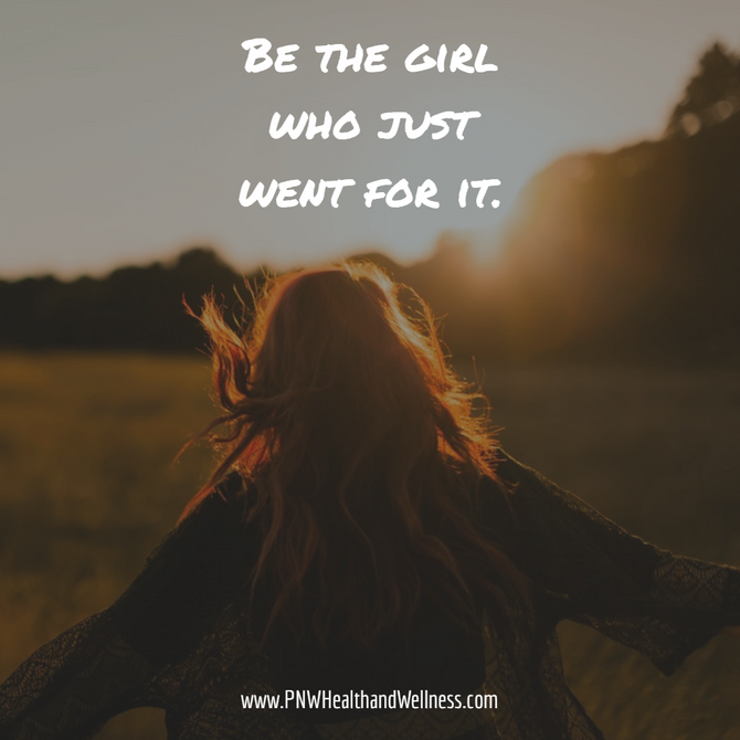 Be the girl who...
