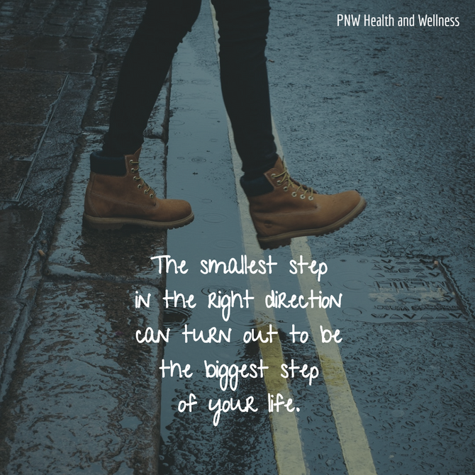 The smallest step in the right...