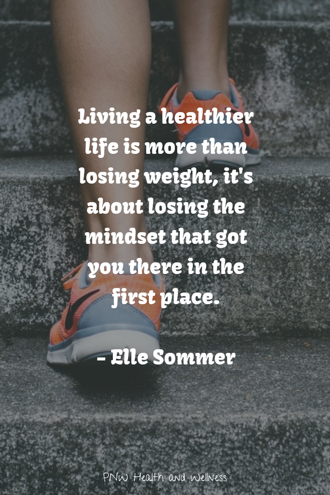 Living a Healthier Life is...