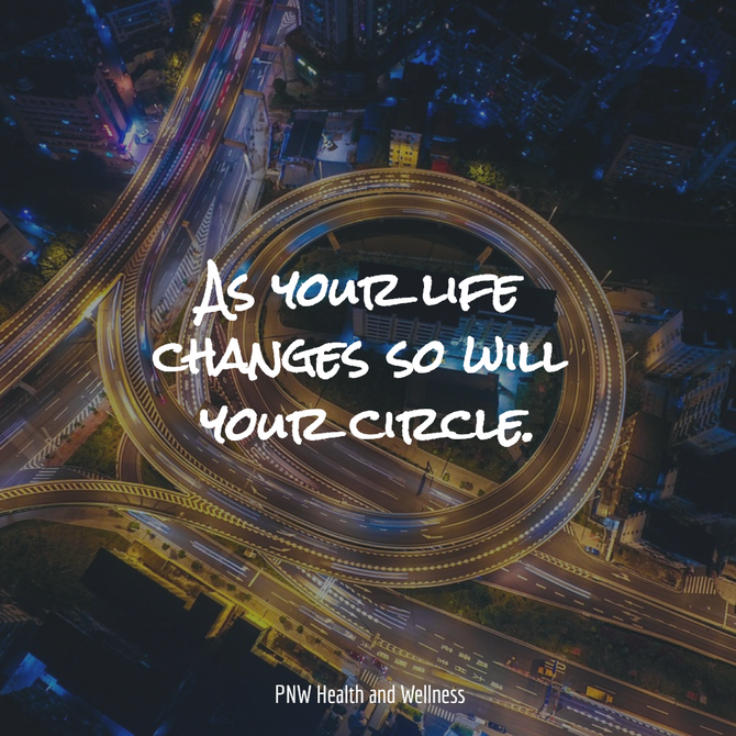 As your life changes...