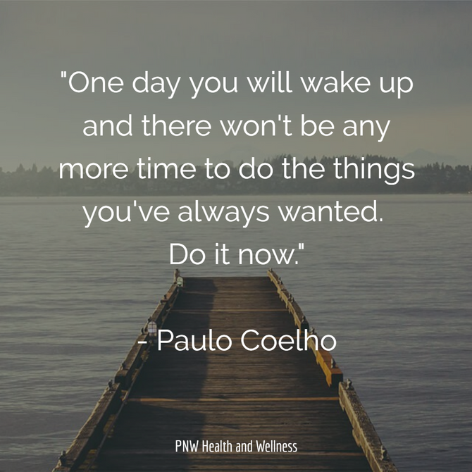 One day you will wake up...