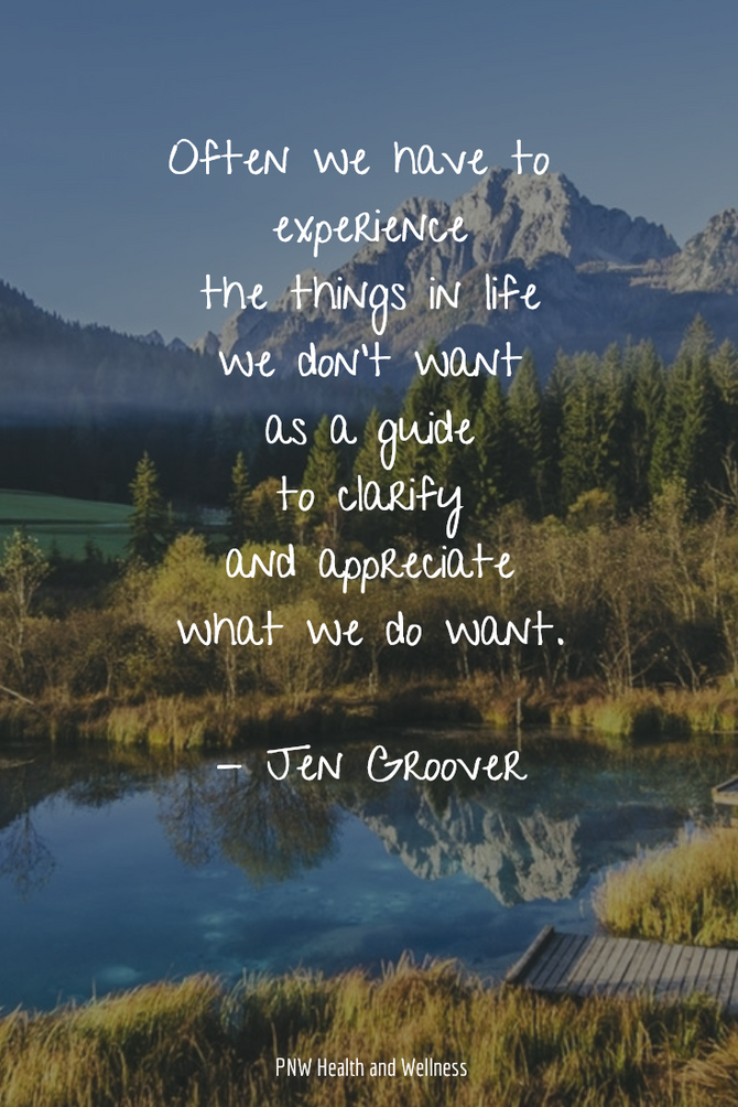 Often we have to experience...
