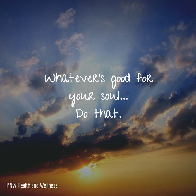 Whatever's good for your...
