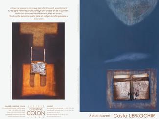 Exposition à la galerie Christine Colon