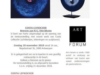 Exposition à la galerie Art Forum