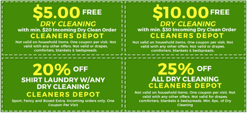 Cleaners Depot Coupons